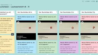 Buchstaben- Lautewerkstatt Padlet M - R