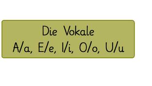Die Vokale - A/E/I/O/U