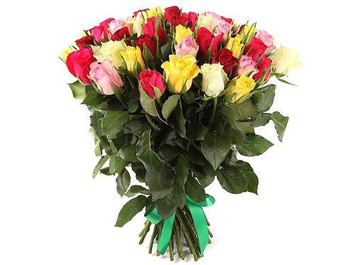 Букет из 51 кенийской розы-микс