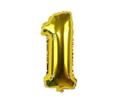 Гелиевый шар-цифра фольгированный 15х40 см