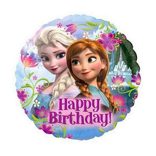 """Гелиевый шар """"Холодное сердце, Happy Birthday!"""" фольгированный 40 см"""