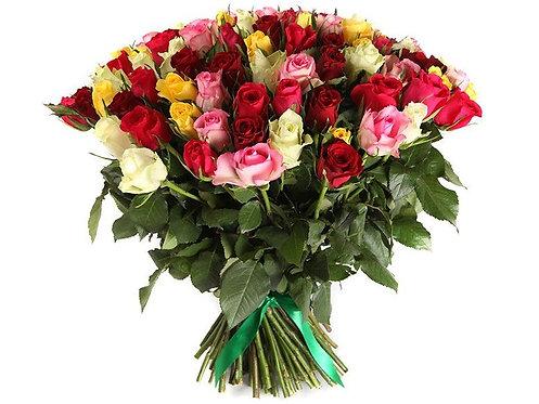 Букет из 101 кенийской розы-микс