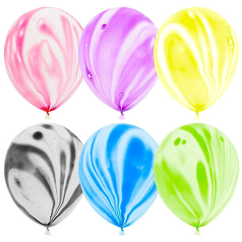 """Гелиевый шар """"Агат"""" диаметром 30 см, ассорти, пастель"""