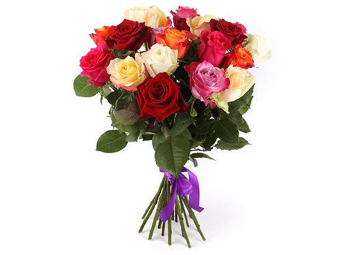Букет из 21 розы-микс