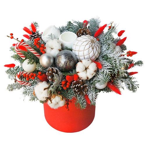 Рождественская шляпная коробка
