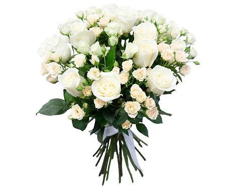 15 Роз + 16 Кустовых роз