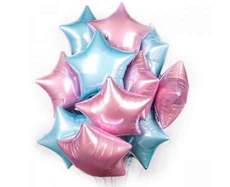 Гелиевый шар-звезда фольгированный 48х18 см