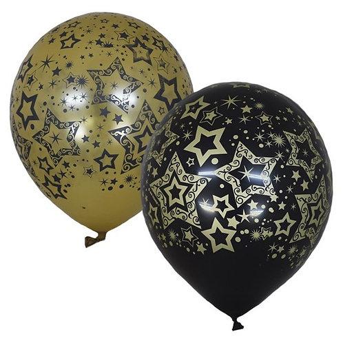 """Гелиевый шар """"Звезды Голливуда"""" диаметром 30 см"""