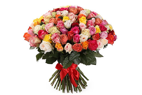Букет из 101 розы-микс