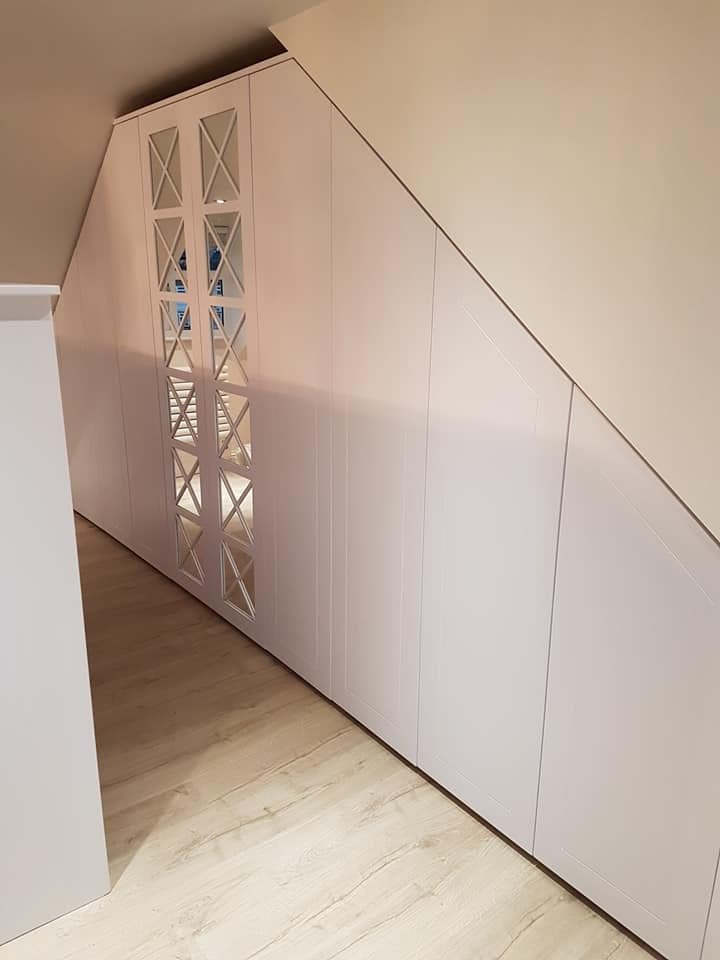 Wardrobes slanted ceiling