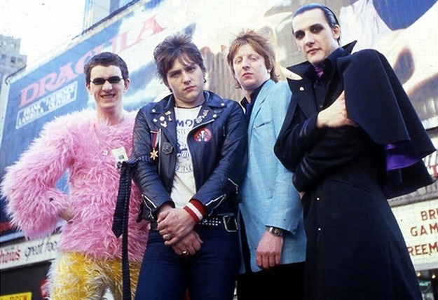 The Damned in New York, flanked by Dracula