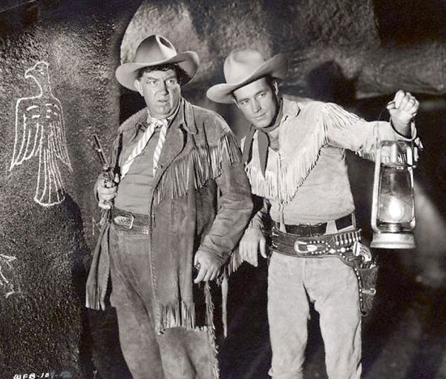 Guy Madison & Andy Devine in The Adventures of Wild Bill Hickok