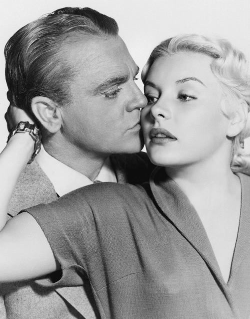 James Cagney & Barbara Payton in KISS TOMORROW GOODBYE