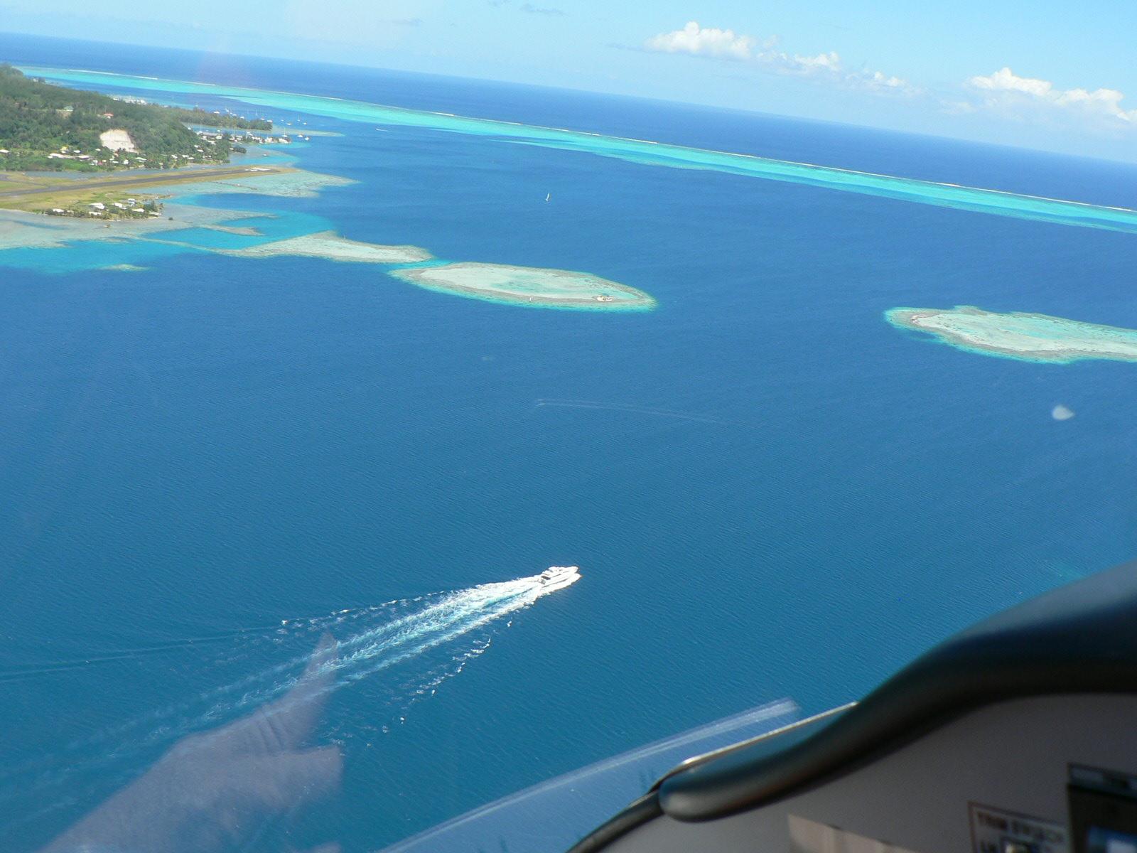 Vol sur le lagon
