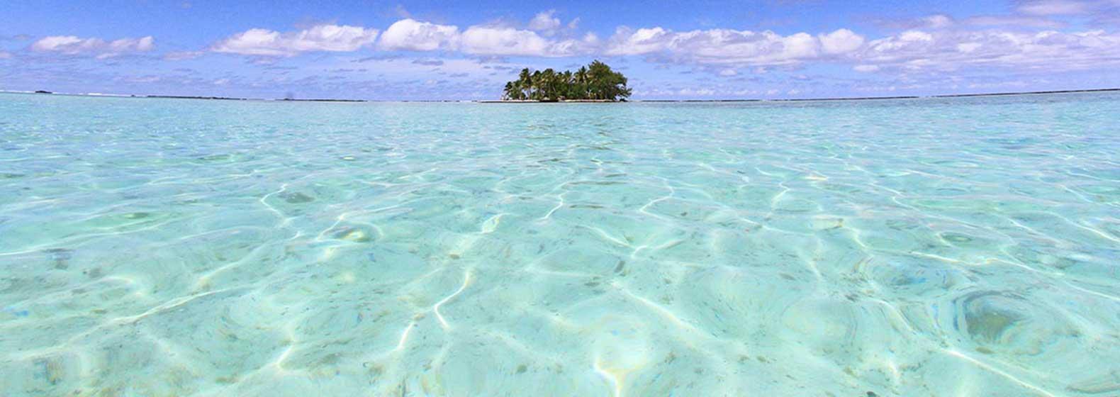 Une île entre le ciel et l'eau...