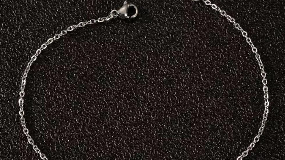 Zodiac Silver Bracelet Anklet Set