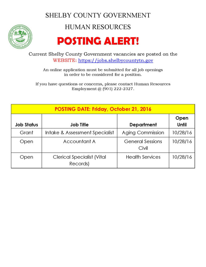 Shelby County Job Openings