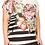 Thumbnail: Plus size stripe and floral blouse
