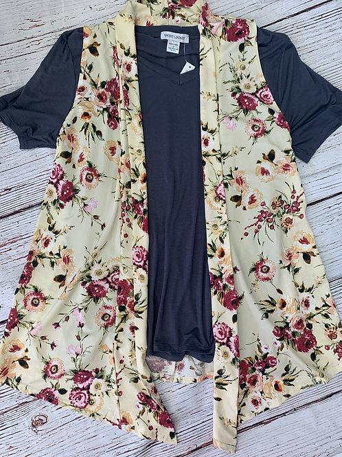 Silky floral kimono