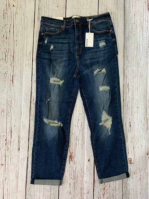 Destroyed Boyfriend Jeans Plus Size