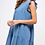 Thumbnail: Slate Blue Tiered and Ruffled Dress 100% Cotton