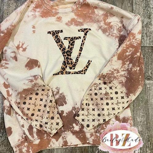 LV Bleached Sweatshirt Long Sleeve