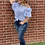 Thumbnail: High-waisted Kancan Jeans with Double Bottons