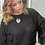 Thumbnail: Plus Size Black Top with Ruffled Sleeves