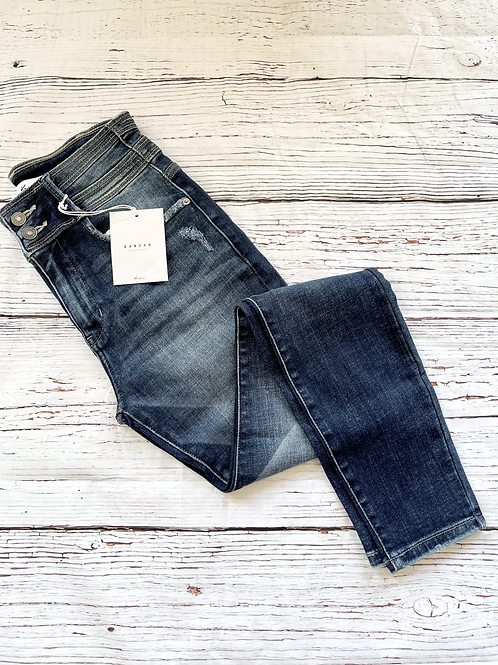 High-waisted Kancan Jeans with Double Bottons