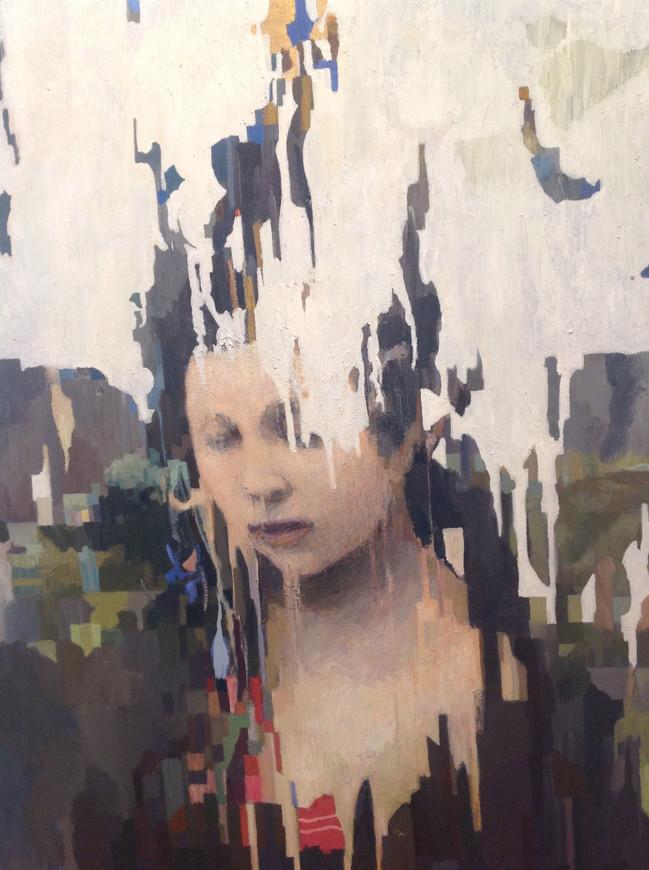 A la luz del recuerdo - oleo tela 90 x 7