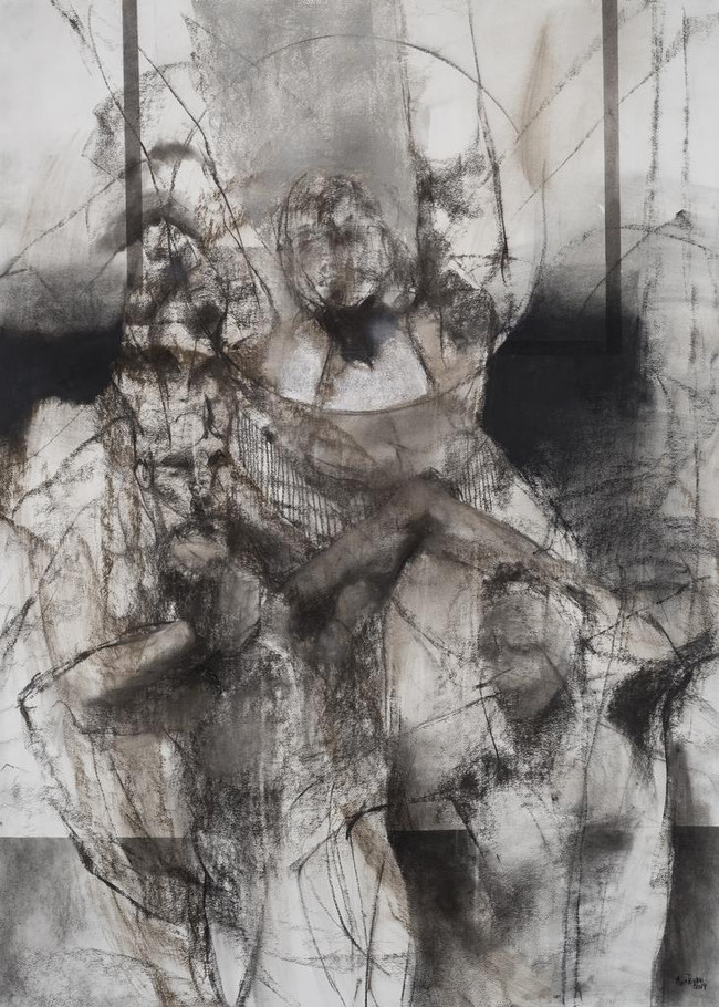 Dibujo III carbonilla sobre papel 160 x
