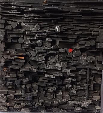 Berra Ernesto, Construcción Negra, 45 x