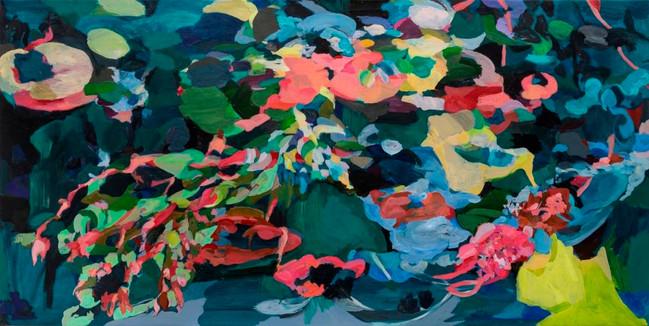 Laura Varangot - Verdes acrilico tela 10