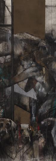 Serie Introspecciones II - pastel y carbonilla sobre papel 150 x 85 cm - 2020 .JPG