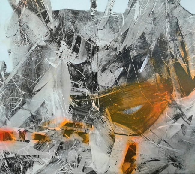 Serie reflejos tecnica mixta sobre tela