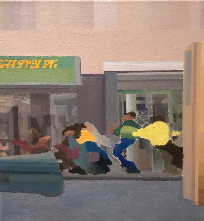 Sin título - oleo tela 35 x 35 cm - 2020