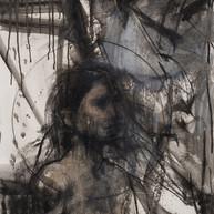 Roger Mantegani - Serie Introspecciones II - tecnica mixta sobre papel - 150 x 55 cm 2021