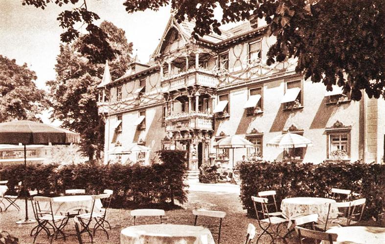 """""""Goldne Krone"""" als Grand-Hotel um 1926"""