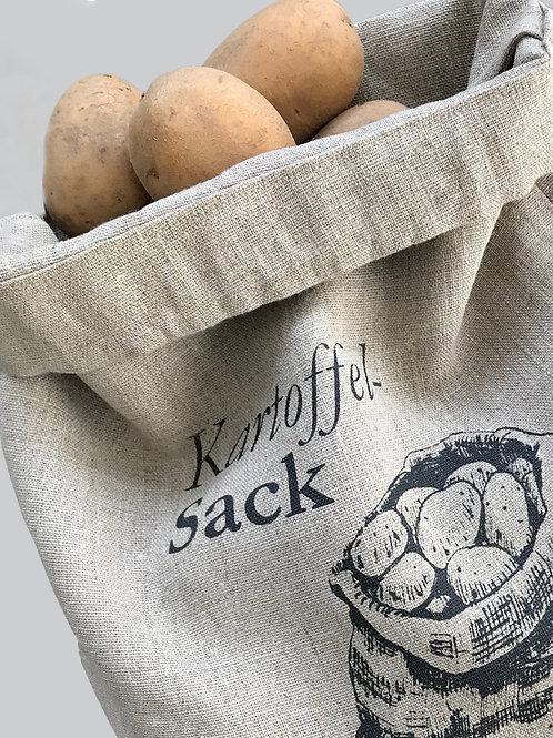 Kartoffel-Sack aus 100% Leinen natur