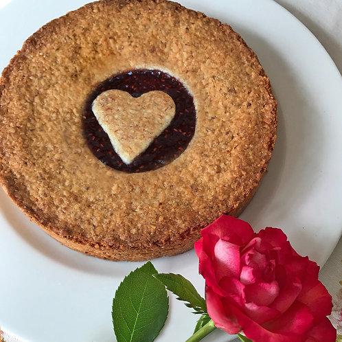 Mandelkuchen mit Herz