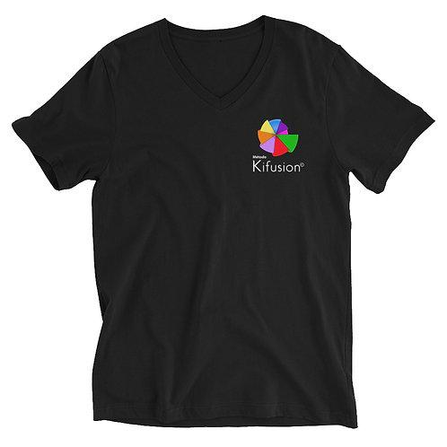 Camiseta de manga corta y cuello de pico unisex