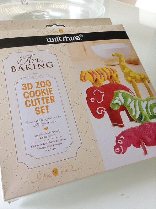 Wiltshire Art of Baking 3D Zoo Cookie Cutter Set