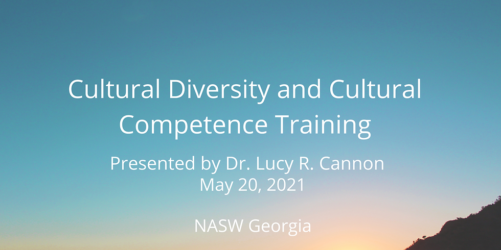 Cultural Diversity and Cultural Competence Training