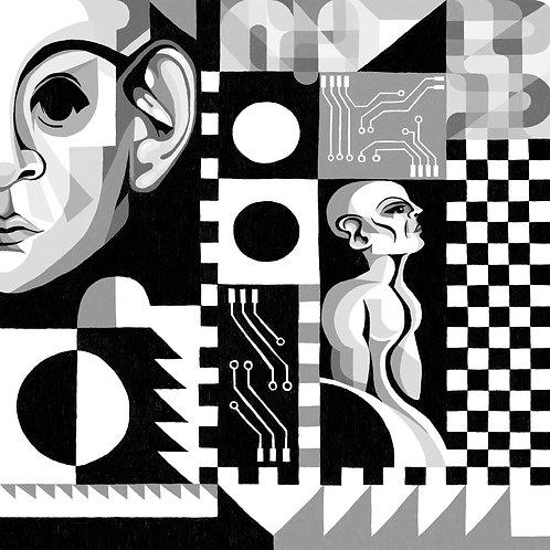 'Glitch' Digital Print