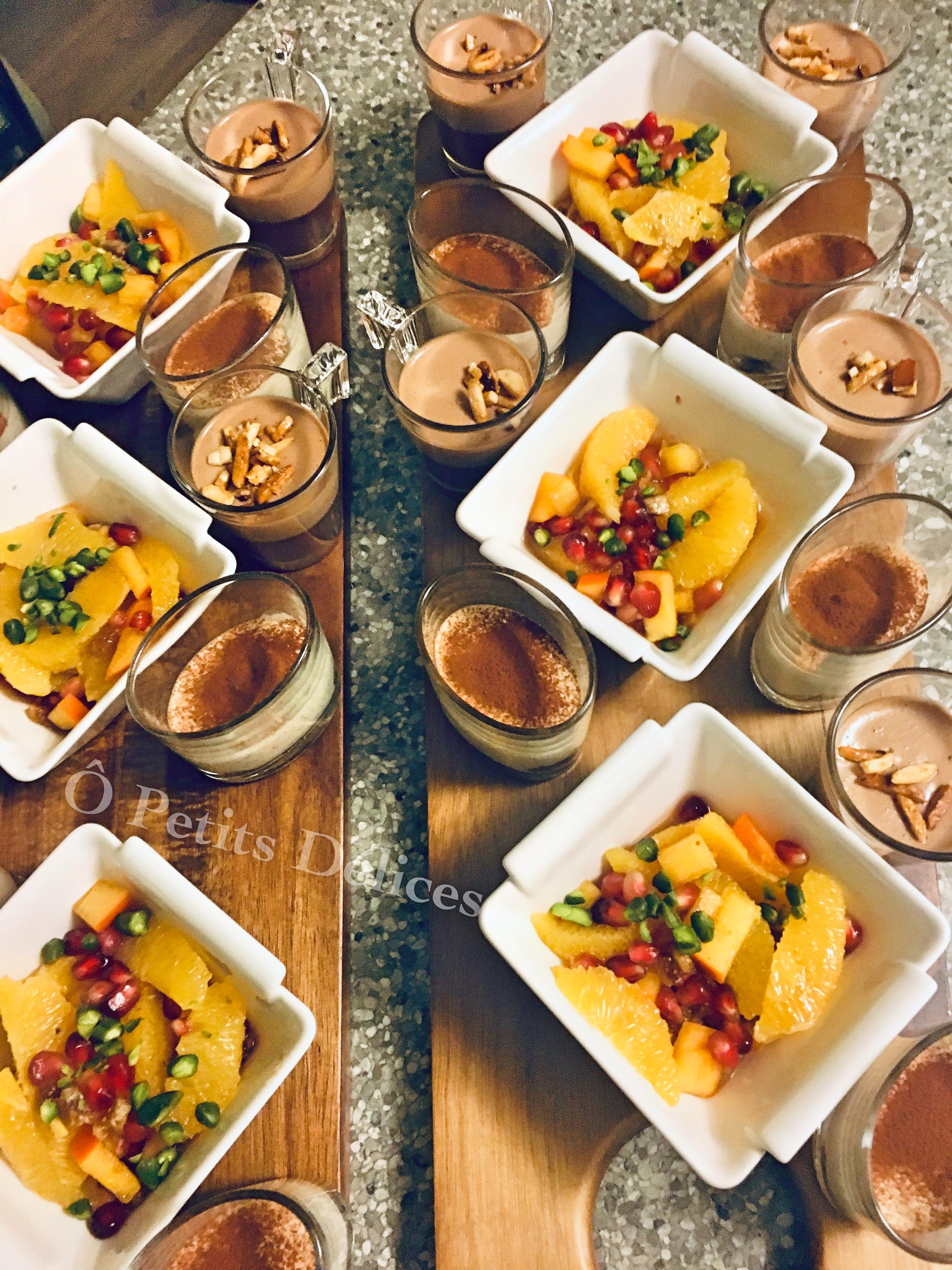Fruchtsalat, Tiramisu, Schokimousse