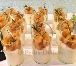 Karamellisierte Ananas, Mascarponecrème