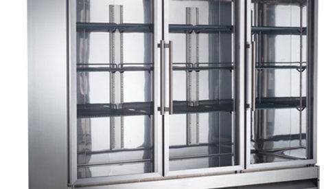 SABA Three Door Glass Reach In Cooler S-72RG
