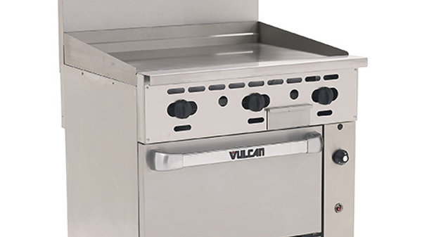 "Vulcan 36S-36GP Endurance Liquid Propane 36"" Range with Manual Griddle and Stand"