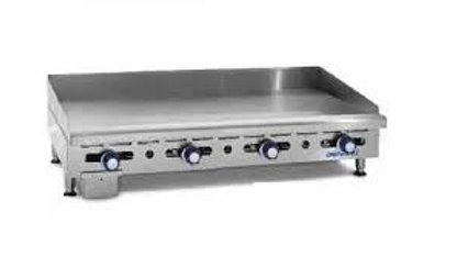"IMGA-4828 48"" Imperial Commercial Gas Griddle Counter Top Flat Grill 3/4"" Plate"