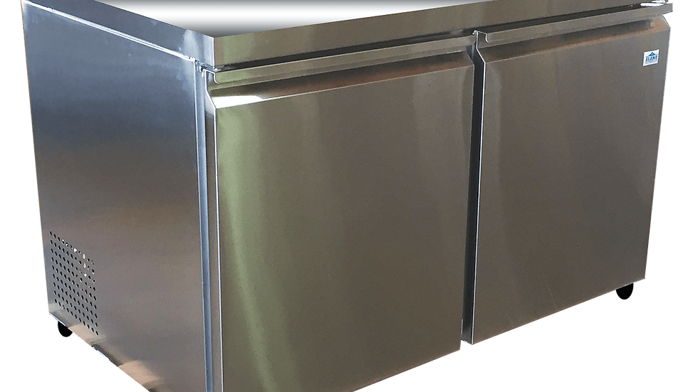 2-Door Under Counter Stainless Steel Refrigerator (XAUC12R, XAUC12R-E)